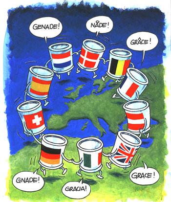 Gods europese gedachte... tekening van Willem de Vink