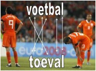 voetbal is een bijna anagram van toeval...