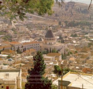 een plaatje van het huidige Nazareth