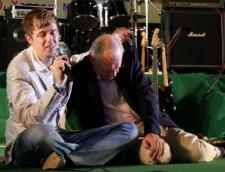 Matteüs van der Steen en Willem Ouweneel tijdens TRIN-conferentie
